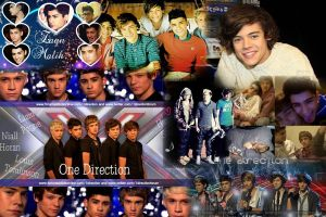 One Direction Collage by Rottweiler1994