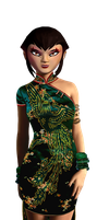 Karai's Dress by JasmineAlexandra