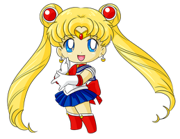 Commission: Chibi Sailor Moon for Katie0513 by MrSniffy