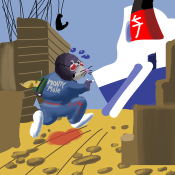Daily Spitpaint #7 - On the run by hfbn2