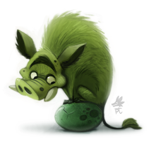 Daily Paint #639. Green Eggs and Ham...origins by Cryptid-Creations