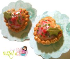 Christmas Heart shaped Tarts by colourful-blossom