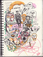 doodline one twou three by blackcatdead