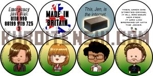 IT Crowd Buttons by kuroitenshi13