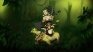 Nidalee Wallpaper by digifields