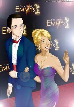 Sheldon and Penny at the Emmys by gwendy85