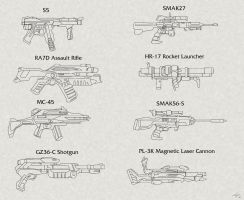rifle-assault gun concepts by EastCoastCanuck