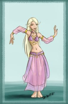 Bellydancer in Lavender by bellsandy