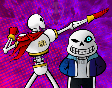 Papyrus and Sans - Undertale Tribute by VitoGraffito