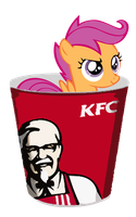 Scootaloo in a Bucket by sparklepeep