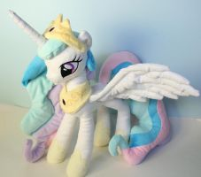Princess Celestia Plushie by Yukamina-Plushies