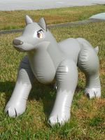 Inflatable Balto Toy by Silverwolf-1ofmany