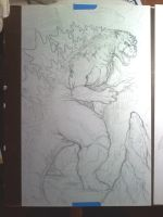 Godzilla WIP by KillustrationStudios