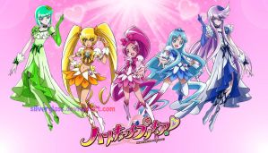 Heartcatch Precure with Cure Clover by Silverglass