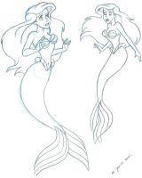 Ariel sketches 2 by landesfes