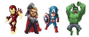 Mini Avengers by Novanim