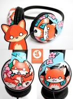 Little Fox headphones by Bobsmade