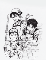 Attack on Titan Boys by AnanyaArts