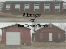Old Rundown Church Pack by Rubyfire14-Stock
