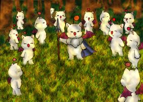 Moogle Forest by AerithHojo