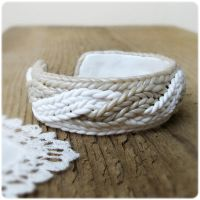 Bracelet imitating knitting by IrenkaR
