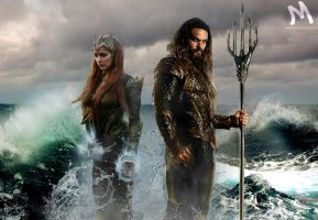 Aquaman And  Mera by mayfuite