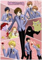 Ouran Host Club by kanae