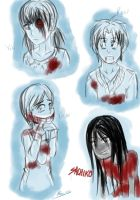 Corpse Party doodles by AwkwardBex