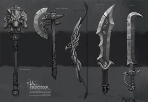 Weapon Sketches by churro818