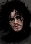 JON SNOW - speed Painting by jodeee