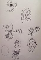 Kirby Doodles by creecreehoneybees