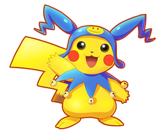 Pikachu X Frost costume [Colored] by V-a-a-N