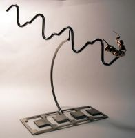 Path to addiction sculpture by photozz