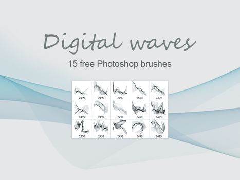 FREE Digital Waves brush pack by outlinez