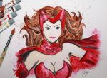 Scarlet Witch Acuarelas by Mary147