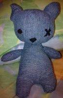 AlleyCat Denim Plushie by JRCsince79