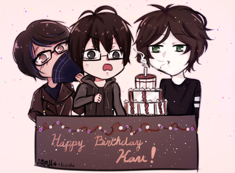 [HBD] Kau- from me and Kazz by DarkMoonlitStar