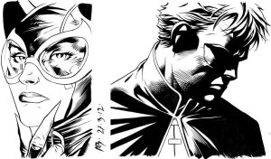 Inking with Brush - Practice by adr-ben