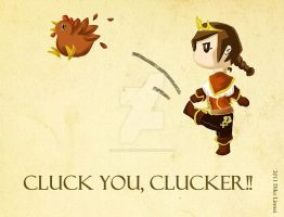 Cluck you, chicken by balba-bunny