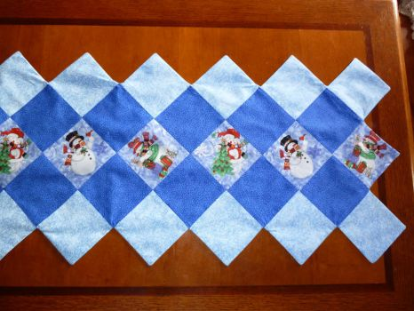 Winter Table Runner Close Up by Bella-Aurora