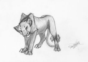 Young Lioness Sketch by SparkleWolf7000
