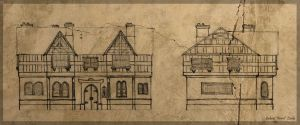 Sketch - Medieval House by Araiel