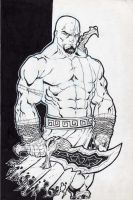Kratos God of War by Kid-Destructo