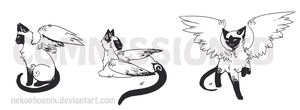 Sal Siamese - Tattoo Set by nekophoenix