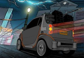 BTTF Smart Car INKED Verson 2 by calamitySi