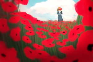 Poppies by TheDarkwoodsCircus