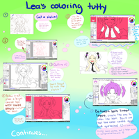 SAI Coloring Tutorial - part 1 by Leaglem