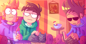 Eddsworld Scene Redraw by bluukie