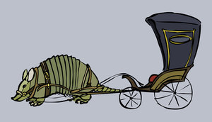 Armadillo Carriage by FancyFerret