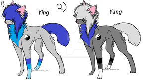 Ying and Yang wolf adopts by Nightwolfhunter13